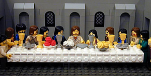 """The Brick Testament - """"The Last Supper"""" from The Brick Testament website"""