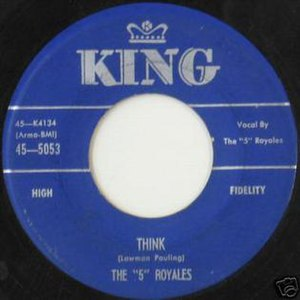 "Think (The ""5"" Royales song) - Image: Think 5Royales"
