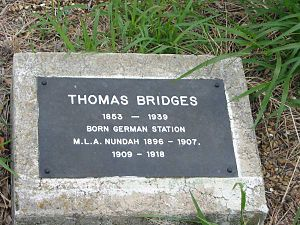 Thomas Bridges (Australian politician) - Image: Thomas Bridges grave