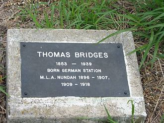 Thomas Bridges (Australian politician) - Grave marker of Thomas Bridges in the Nundah Cemetery