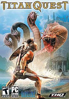 <i>Titan Quest</i> 2006 action role playing hack and slash video game