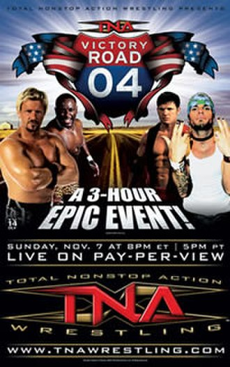 Victory Road (2004) - Promotional poster featuring Jeff Jarrett, Monty Brown, A.J. Styles and Jeff Hardy