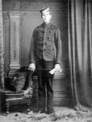 Hugh Trenchard, 1st Viscount Trenchard - Trenchard aged 14 as a militia cadet