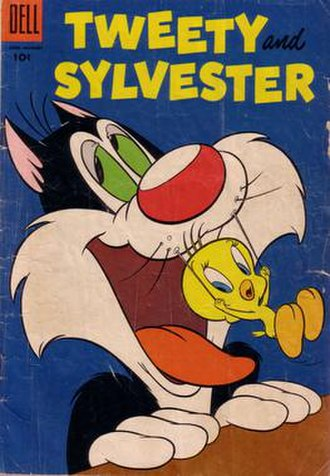 Sylvester the Cat - Sylvester in Tweety and Sylvester comics, No.9, published in 1955
