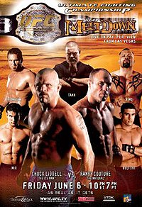 A poster or logo for UFC 43: Meltdown.