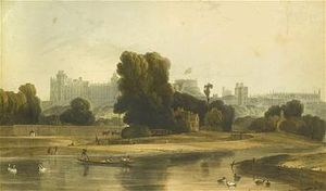 William Daniell - Windsor Castle from Brocas Meadow (1827)