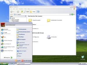 Windows XP visual styles - Image: Windows XP Silver