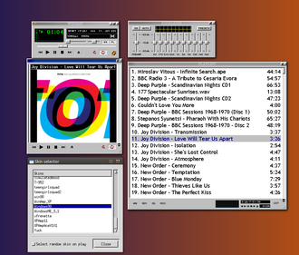 XMMS - Xmms with xmms-coverviewer in action on Ubuntu 11.10.