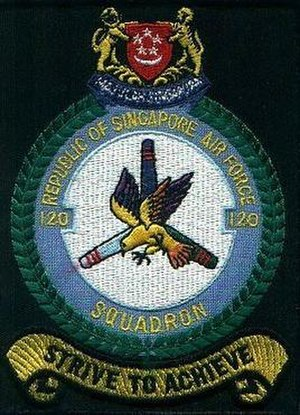 120 Squadron, Republic of Singapore Air Force - Image: 120Sqn shoulder patch (old)