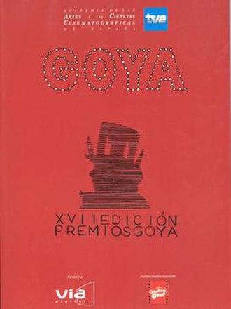 17th Goya Awards - Image: 17th Goya Awards logo