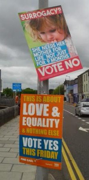 Thirty-fourth Amendment of the Constitution of Ireland - Image: 2015 Irish marriage referendum posters