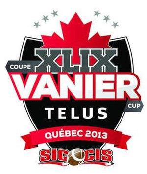 49th Vanier Cup - Image: 49th Vanier Cup Logo