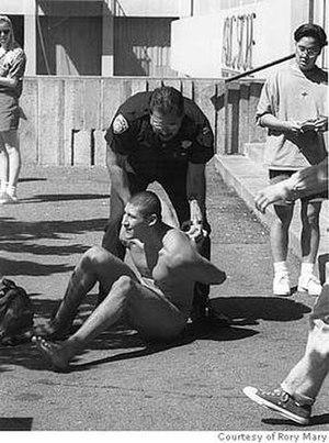 Andrew Martinez - Andrew Martinez being arrested in Berkeley, California
