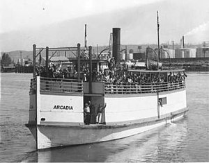 Arcadia (steamboat) - Image: Arcadia (steamboat) in 1937
