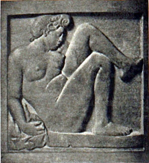 Aristide Maillol - Aristide Maillol, Bas Relief, terracotta. Exhibited at the 1913 Armory Show, New York, Chicago, Boston. Catalogue image (no. 110)