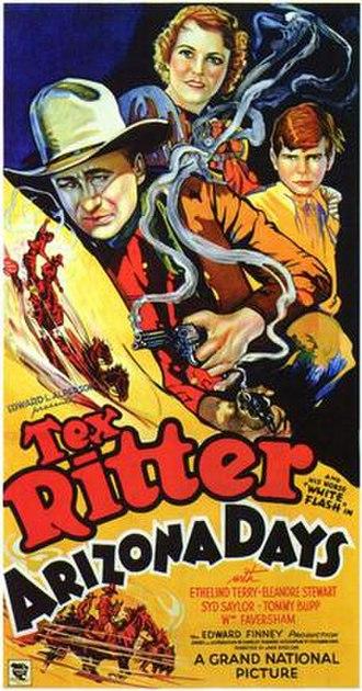 Arizona Days (1937 film) - Film poster