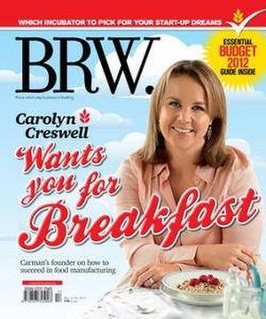 BRW (magazine) - Image: BRW (magazine) cover