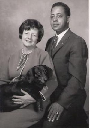 Barney and Betty Hill - Betty and Barney Hill with their dog, Delsey.