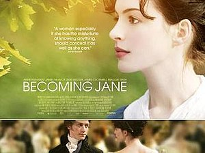 Becoming Jane - UK theatrical release poster