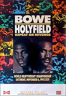 Riddick Bowe vs. Evander Holyfield II Boxing competition