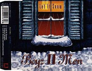 Let It Snow (song) - Image: Boyz II Men Let It Snow single cover