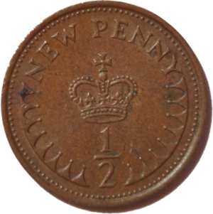 Halfpenny (British decimal coin) - Image: British halfpenny coin 1971 reverse