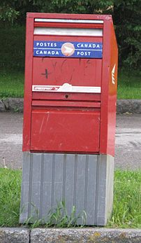 A Canada Post mailbox.
