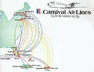 Carnival Air Lines - Route map