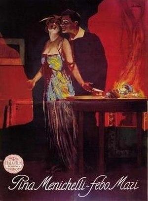 Pina Menichelli - Original poster for Il Fuoco (1916).
