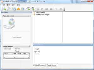 DAEMON Tools Pro running on Windows 7