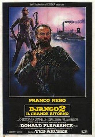 Django Strikes Again - Italian film poster by Enzo Sciotti