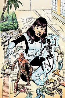 Elasti-Girl fictional character, a superheroine of the DC Comics universe and a member of the Doom Patrol