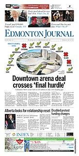 <i>Edmonton Journal</i> daily newspaper in Edmonton, Alberta