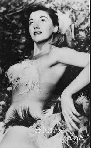 Elvira Pagã - Image: Elvira Pagã, Brazilian showgirl