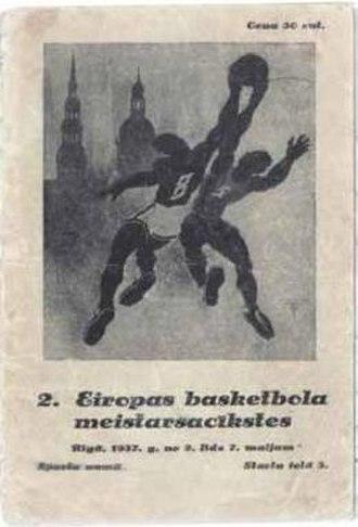 EuroBasket 1937 - Image: Euro Basket 1937 program poster