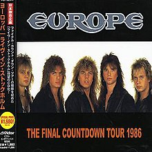 Europe The Final Countdown Tour 1986 album.jpg