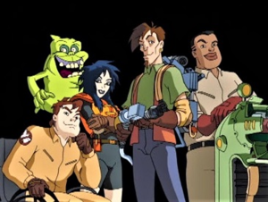 Extreme Ghostbusters - From left to right in front: Garrett Miller, Kylie Griffin, Eduardo Rivera, and Roland Jackson.