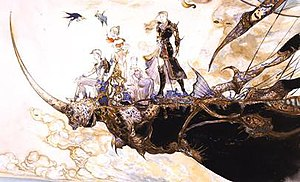 Concept art of the playable characters of Fina...