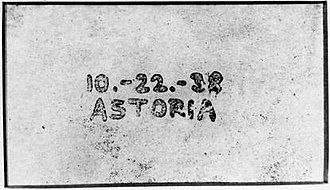 Chester Carlson - The world's first xerographic image