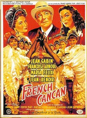 French Cancan - Theatrical release poster