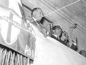 Giuseppe Genco Russo - Genco Russo at a Christian-democrat party rally
