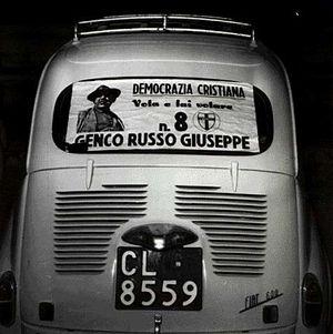 Giuseppe Genco Russo - Election poster for Mafia boss Giuseppe Genco Russo on the Christian-democrat list