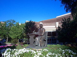 A statue of Ignatius of Loyola was dedicated in 2000.