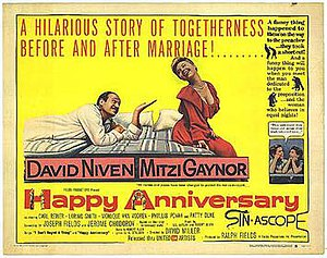 Happy Anniversary (1959 film) - Theatrical release poster
