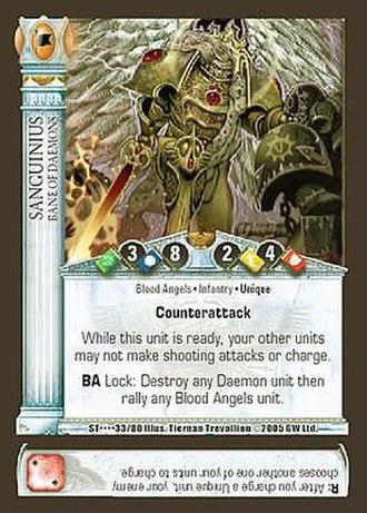 Horus Heresy (card game) - Image: Horus Heresy Sanguinius