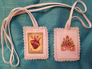 Basilica of Notre-Dame-des-Victoires, Paris - White Scapular of the Archconfraternity of the Immaculate Heart of Mary