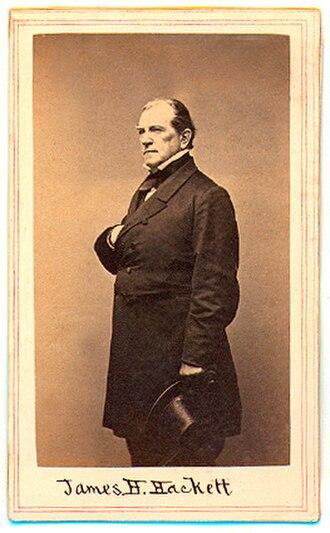 James Henry Hackett - Image: JH Hackett 2