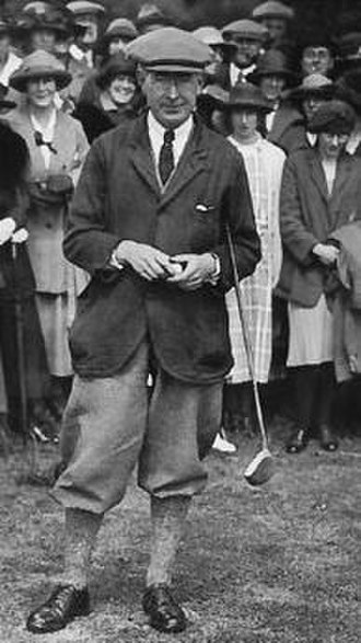 James Sherlock (golfer) - Sherlock in 1923 at King's Lynn Golf Club in a match played against James Braid