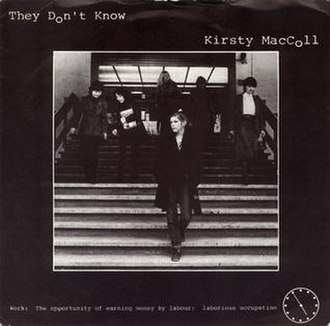 They Don't Know (Kirsty MacColl song) - Image: Kirsty Mac Coll They Dont Know
