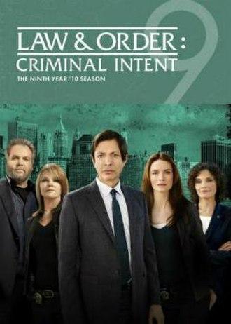 Law & Order: Criminal Intent (season 9) - Season 9 U.S. DVD cover